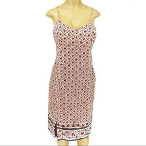 American Eagle Red Floral Cotton Midi Dress 10